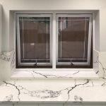 Marble window ledge