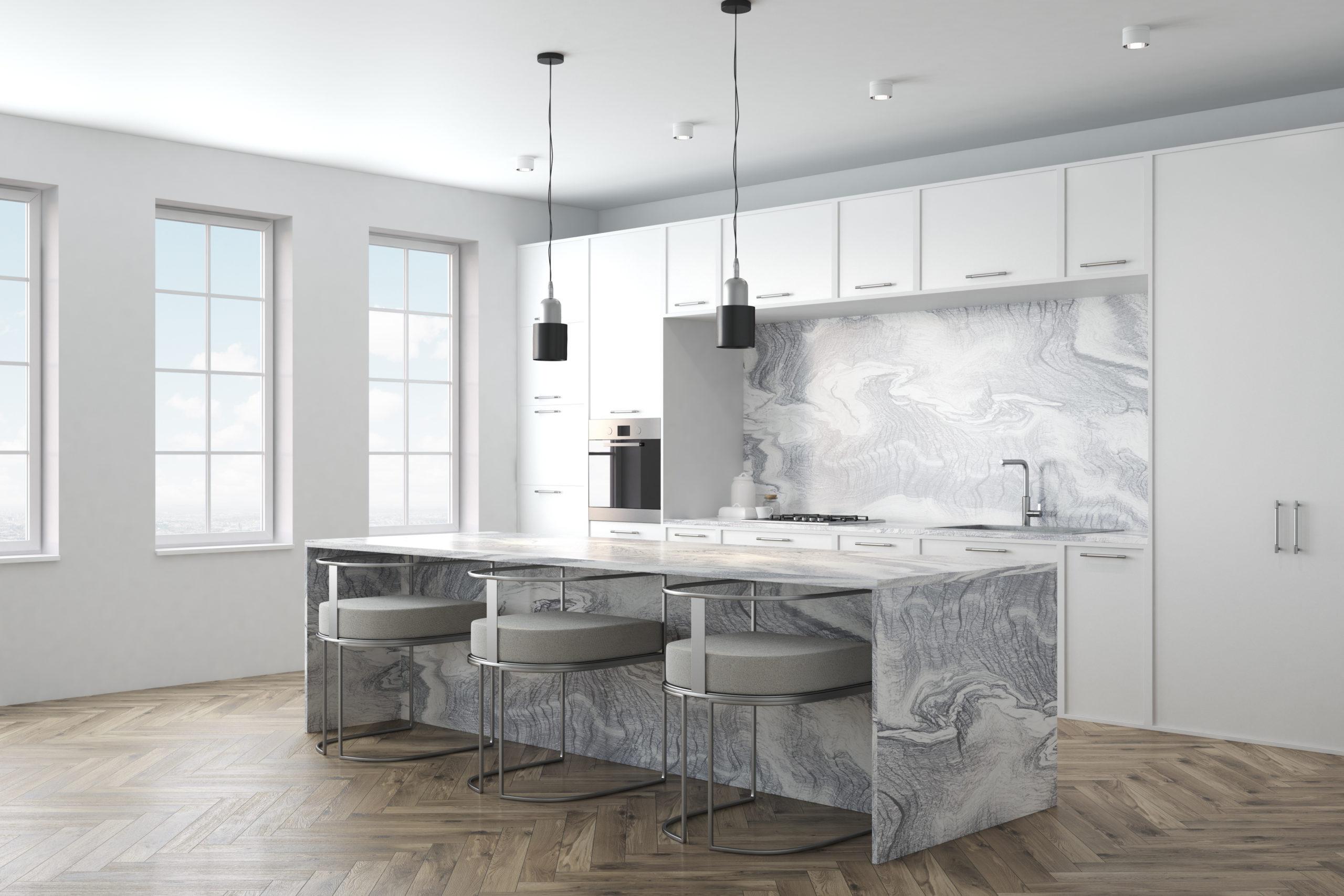 luxury grey kitchen worktop